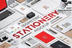 Iso. Stationery Mock Up Generator by Mockup Zone on @creativemarket