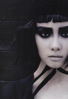opaqueglitter:  Vogue Korea July 2013'Magical Black'Ji-Young KwakByFracois Nars