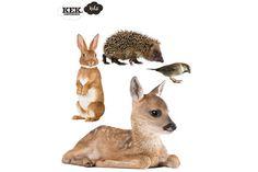 dieren stickers uit het bos, Kek in de KEET IN HUIS Webwinkel