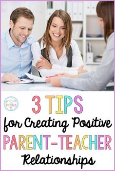 Teachers, are you looking for ways to build trusting relationships with your student's parents? This post shares 3 tips and suggestions on how you can help create positive, meaningful relationships outside of your classroom. A FREE tool is included! First Year Teachers, Parents As Teachers, New Teachers, Parent Teacher Communication, Parent Teacher Conferences, Family Communication, Teacher Binder, Teacher Freebies, Teacher Resources