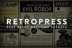 RetroPress - Photoshop Actions by RetroSupply Co. on @creativemarket