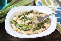 Roasted-asparagus-risotto #Italian #recipe #vegetables