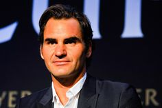 Roger Federer Photos Photos - Roger Federer speaks during a Laver Cup media announcement at the St Regis Hotel on August 24, 2016 in New York City. - Laver Cup Media Announcement