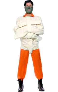 The Hannibal Lecter is an orange jumpsuit, straight jacket and mask. The jumpsuit and straight jacket fits up to a Chest and Leg. Costumes Uk, Movie Costumes, Cosplay Costumes, Halloween Costumes, Simply Fancy Dress, Cheap Fancy Dress, Superhero Fancy Dress, Childrens Fancy Dress, Michael Myers