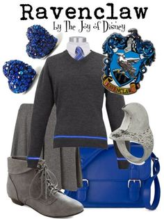 Outfit inspired by the Ravenclaw House of Hogwarts from the Harry Potter movies!