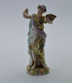 Late 19th C Rodolstadt-Volstedt Miniature Figure of a Classical Muse
