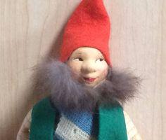Early Ronnaug Petterssen Elf Doll Nisse - Norwegian Artist Doll - Felt Cloth Fur | Dolls & Bears, Dolls, By Type | eBay!