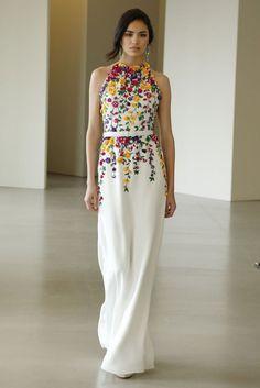 Floral gowns at Oscar de la Renta Resort 2016Via Glamour.com