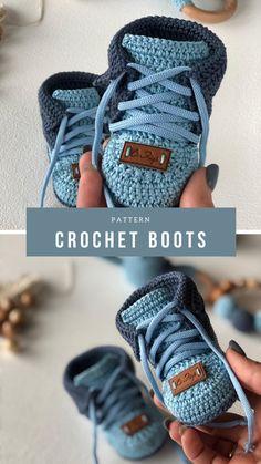 Crochet Baby Boots, Crochet Socks, Crochet Baby Clothes, Love Crochet, Baby Shoes Crochet Pattern, Easy Crochet, Knit Crochet, Newborn Crochet Patterns, Crochet For Kids