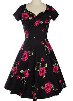 Audrey Hepburn Robe Retro Rockabilly Dress 2017 jurken 50s 60s Swing Floral Pin  up Women Summer. Cheap Dresses ... dd2545405ea1