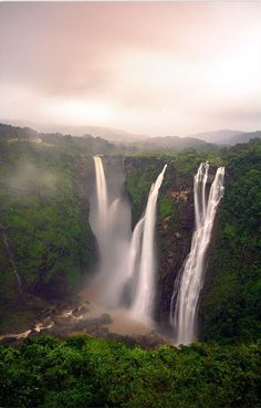 5. Jog Falls  Jog Falls is considered to be the second-highest after the Nohkalikai Falls with a height of 1100 feet (335 meters) in Meghalaya waterfall in India.