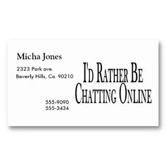 Rather Be Chatting Online Business Card