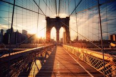 New York - Brooklyn Bridge Sunset | Will go back and kiss the love of my life in this bridge ...