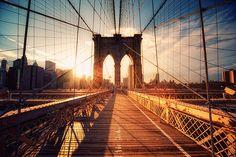 brooklyn bridge at sunset, gorgeous!