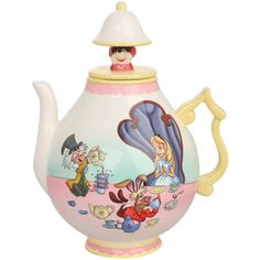 Disney Alice In Wonderland Teapot | Hot Topic ($43) ❤ liked on Polyvore featuring home, kitchen & dining, kitchen, accessories, alice in wonderland, disney and food