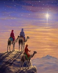 Order a stunning canvas art print of Three Wise Men H. Christmas Scenes, Christmas Nativity, Christmas Pictures, Christmas Art, Vintage Christmas Cards, Christmas Concert, Image Jesus, Christmas Blessings, Three Wise Men