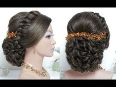 Bridal hairstyle for long hair tutorial. Wedding updo step by step - YouTube