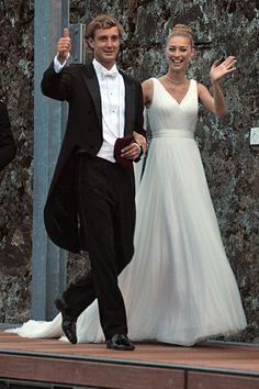 Pierre Casiraghi et Beatrice Borromeo lors de leur mariage religieux sur les Iles Borromées le 1er août 2015