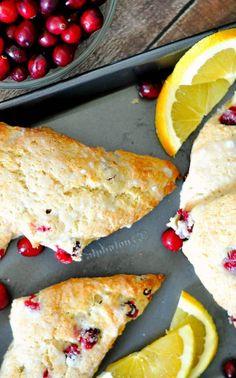 Cranberry Recipes Baking, Holiday Recipes, Baking Recipes, Cranberry Walnut Bread, Cranberry Orange Scones, Cranberry Sauce, Xmas Dinner, Christmas Breakfast, Christmas Baking