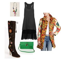Fun look for the #Flower Power #fashion #contest with super cool #coat!