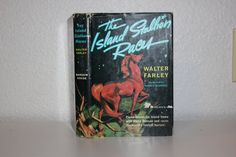 The Island Stallion Races by Walter Farley Illustrated by Harold Eldridge 1955 First Edition, Vintage Books, Green Book, Green Decor, Horses by CarisHome on Etsy