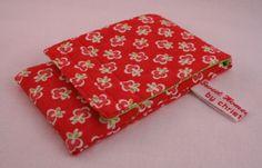 "Smartphonetasche ""rot geblümt"" von Sweet Homemade Things by christina prinz auf DaWanda.com"