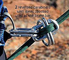 How to Rig a Carabiner Brake (Emergency Rappelling Method) - How to Rig a Carabiner Brake Best Picture For Camping knots tutorials For Your Taste You are look - Survival Tools, Camping Survival, Outdoor Survival, Survival Prepping, Wilderness Survival, Outdoor Tools, Climbing Rope, Mountain Climbing, Rock Climbing Gear