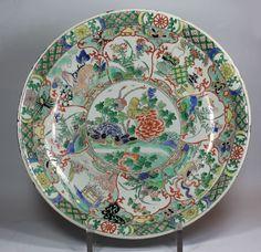 Chinese famille verte dish, Kangxi