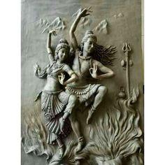 Grey TulirTaney Shiva Shakti Dance Clay Wall Sculpture for Interior Decor, Rs 500 /square feet Arte Shiva, Shiva Art, Krishna Art, Hindu Art, Shiva Shakti, Wall Sculptures, Sculpture Art, Asian Sculptures, Clay Wall Art
