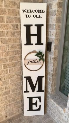 Wooden Welcome Signs, Porch Welcome Sign, Diy Wood Signs, Home Wood Sign, Outdoor Wood Signs, Welcome Home Signs, Barn Wood Signs, Painted Wood Signs, Custom Wood Signs