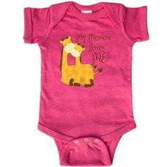 Inktastic My Memaw Loves Me! Infant Creeper Baby Bodysuit Grandma Me Giraffe Gift Loved By Greatest Grandmas House Spoils Grandkids One-piece, Infant Boy's, Size: 6 Months, Grey