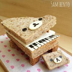 Piano Bear Sandwich