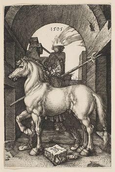 """The Little Horse,"" Albrecht Dürer (German, Nuremberg 1471–1528 Nuremberg) http://media.photobucket.com/image/Christopher%20Conn%20Askew%20artist/Ladynoir/l1.jpg"