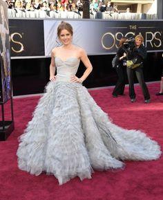 Best Dressed - The Annual Academy Awards Amy Adams Designer: Oscar de la Renta Dresses 2013, Oscar Dresses, Amy Adams, Oscar 2013, Oscar Verleihung, Red Carpet Dresses, Blue Dresses, Long Dresses, Pretty Dresses