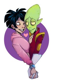 "Have a shippy morning with this ""Kif and Amy"" art by Hektious 