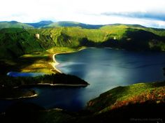 Lagoa do Fogo,(LAKE OF FIRE) São Miguel island, Azores Islands, Portugal. SO PRETTY THERE