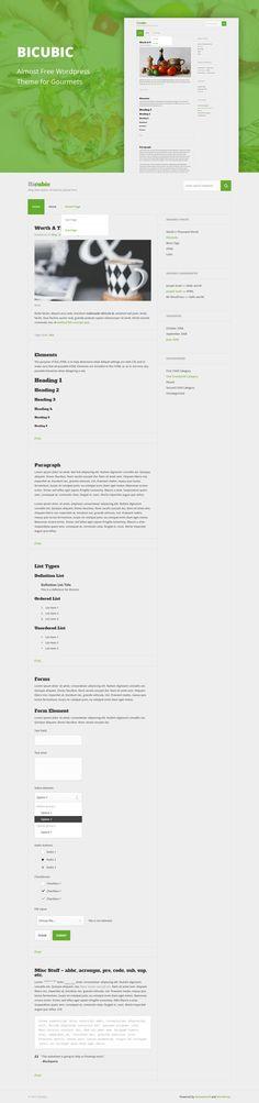 Bicubic - Cheap WordPress Theme. Photoshop Plugins. $2.00