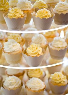 Love these cupcake wrappers.  Grey & Yellow, always a gorgeous combo!
