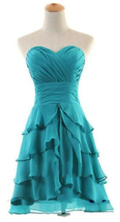 Sweetheart Ruched Ruffles Party Dress