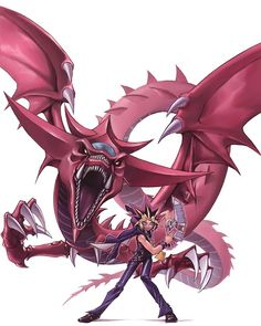Slifer the Sky Dragon and his master.