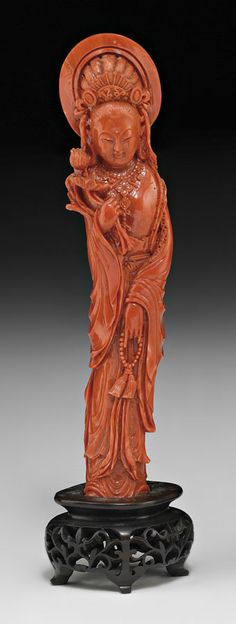 A CARVED CORAL FIGURE OF A MAIDEN, 19TH/20TH CENTURY. | © 2014 Sotheby's Australia