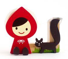 Little Red Riding Hood Squirrel - Otogicco - Tape Dispenser