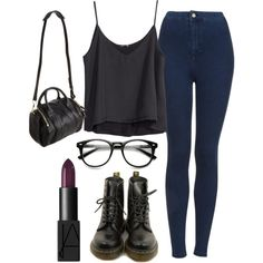 ... by sassypayne on Polyvore featuring polyvore, fashion, style, H&M, Topshop, Dr. Martens, Alexander Wang and NARS Cosmetics