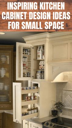 INSPIRING KITCHEN CABINET DESIGN IDEAS FOR SMALL SPACE