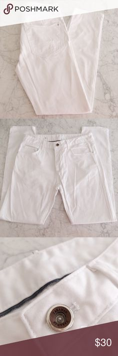 ZARA MAN White Denim Jeans 🛍🎉WELCOME TO MY CLOSET. 🎉🛍  📌ITEM DESCRIPTION: Worn Once, Sz 31. No Stains.  📌SHIPPING 📦: I ship all purchases within 24/hrs.  📌BUNDLE & SAVE: You will get an exclusive 15% discounted on 2+ items when BUNDLE.  Don't hesitate to ask me any questions. Thank you for looking, OFFER 🆙! Zara Jeans