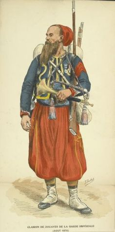 Trumpeter of the Zouaves of the French Imperial Guard c 1870