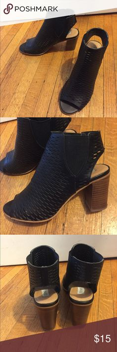 Steve Madden Booties Perforated black leather booties. Steve Madden Shoes Heeled Boots