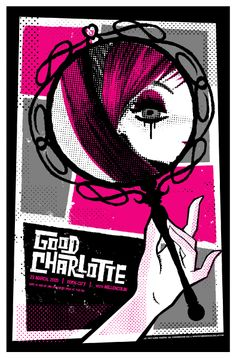 Poster for a 2005 Good Charlotte Gig in the UK by Slater