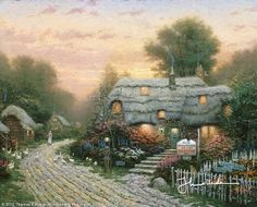 Olde Porterfield Tea Room by Thomas Kinkade