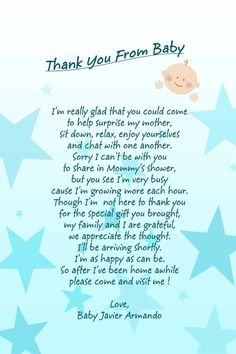 Amazing Baby Shower Message With Dark Blue Letters On Light Blue And White  Background And Light Blue Stars With Cream Baby Motive
